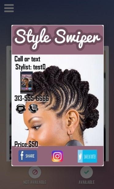 hair style share cards